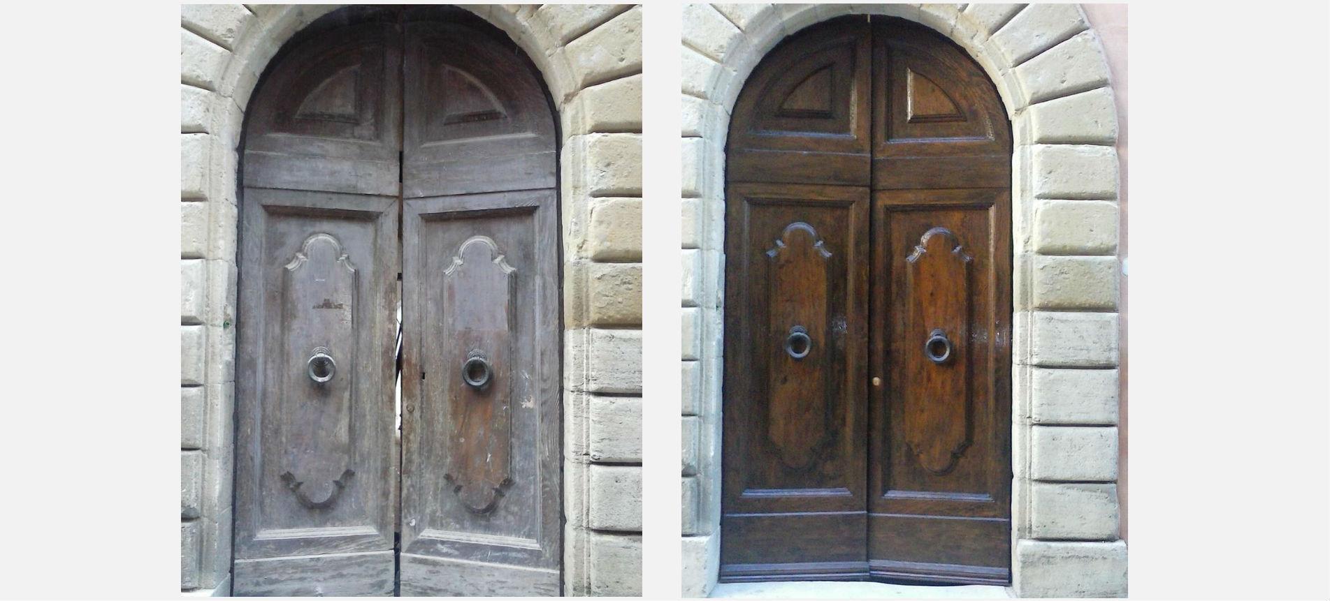 Come Restaurare Una Porta Di Legno.Restauro Infissi Siena Porte Finestre E Mobili Antichi